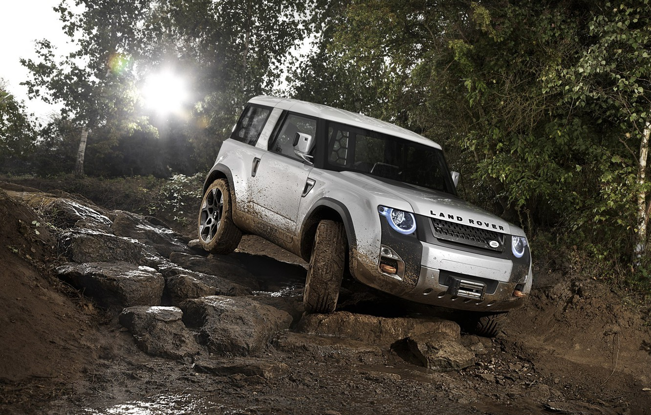 Photo wallpaper squirt, dirt, rally, Land, Rover, DC100