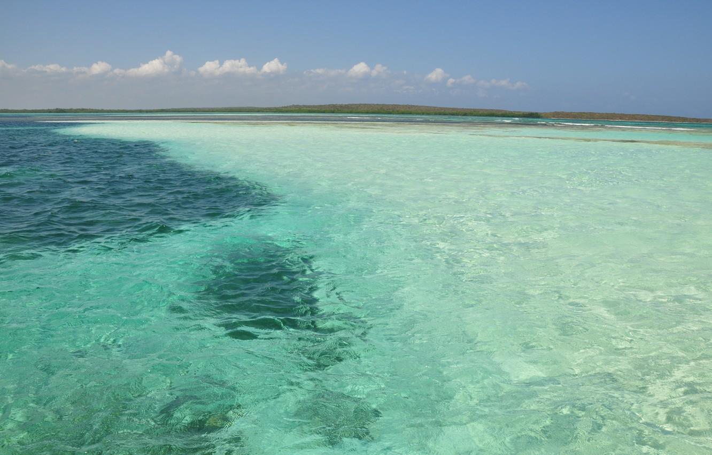 Photo wallpaper sand, sea, summer, water, landscape, the ocean, color, Caribbean