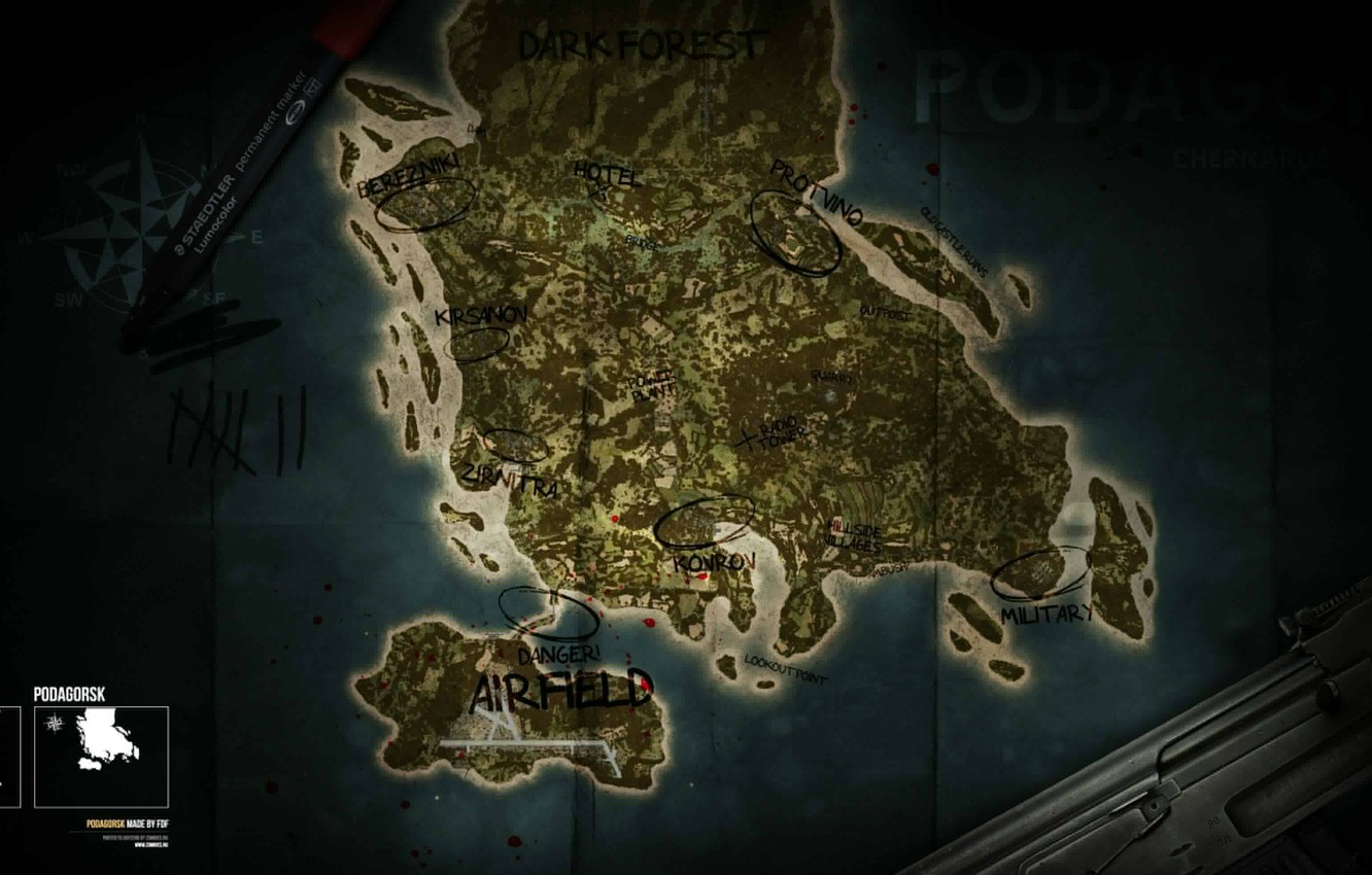 Wallpaper Map, Dayz, Standalone images for desktop, section игры ...
