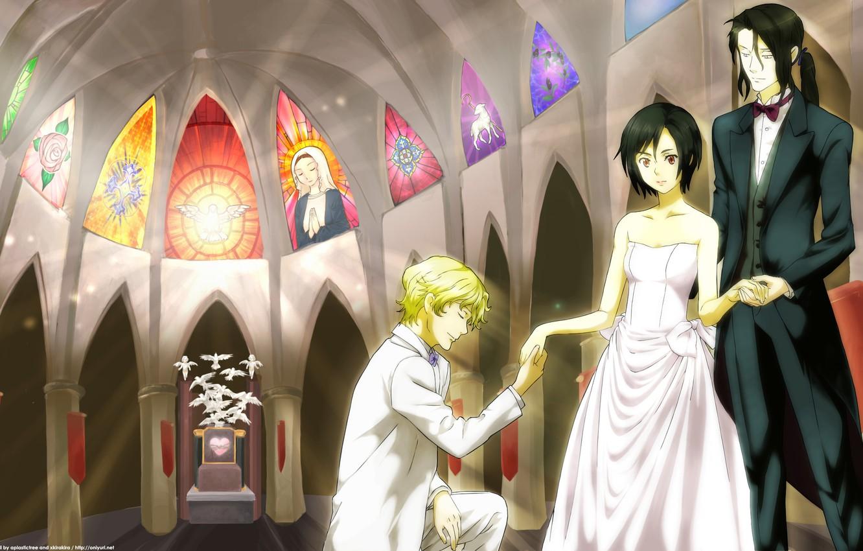 Photo wallpaper Anime, vampires, Solomon, Blood +, Saya, Haji, love-carrot