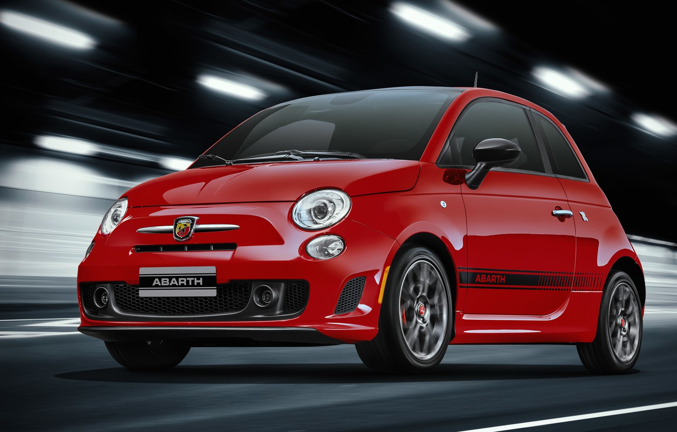 Photo wallpaper Red, The tunnel, The front, Abarth, 595