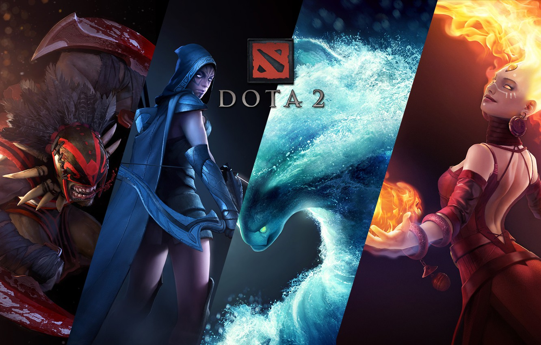 Photo wallpaper DotA 2, Defense of the Ancients, Bloodseeker, Lina, sicker, morph, Traxex, Lina Inverse, Morphling, Dota …