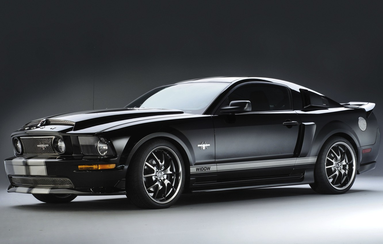 Photo wallpaper Mustang, Ford, Mustang, Ford, 2009, Black Widow