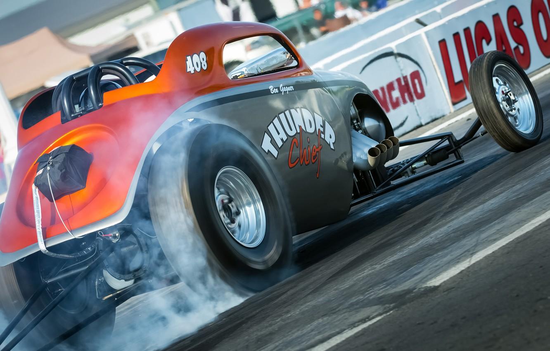 Photo wallpaper race, hot-rod, classic car, drag racing