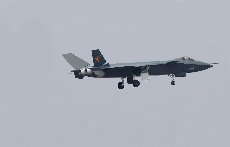 Photo wallpaper photo, prototype, the plane, chassis, Chengdu J-20