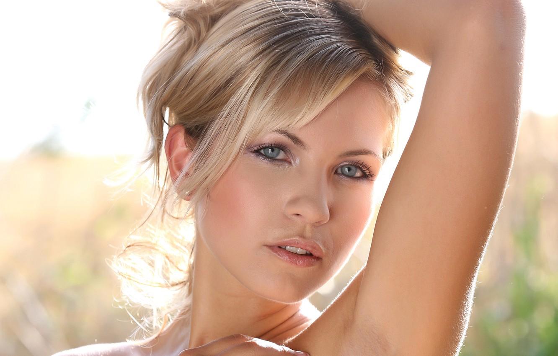 Photo wallpaper look, face, model, blonde