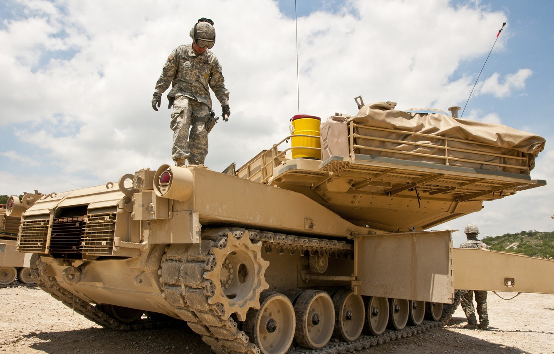 Photo wallpaper desert, Iraq, Abrams, Abrams