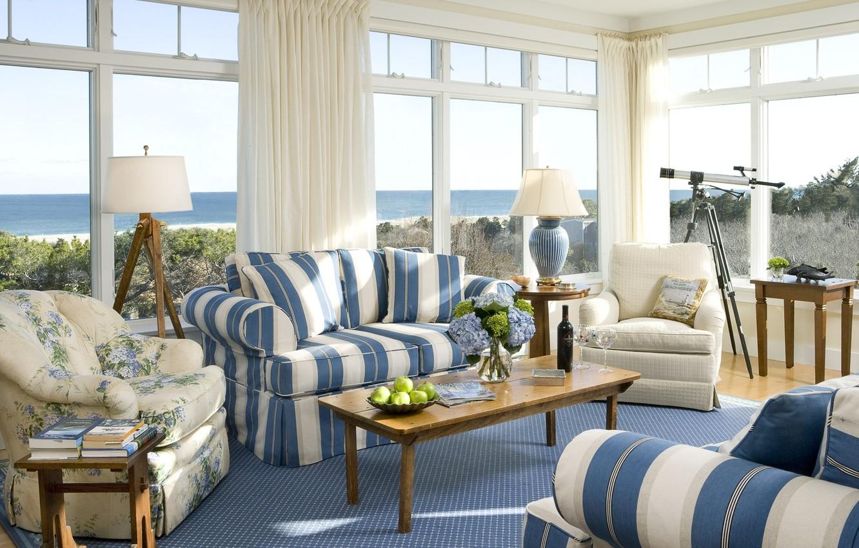 Photo wallpaper design, house, style, room, Villa, interior, cottage