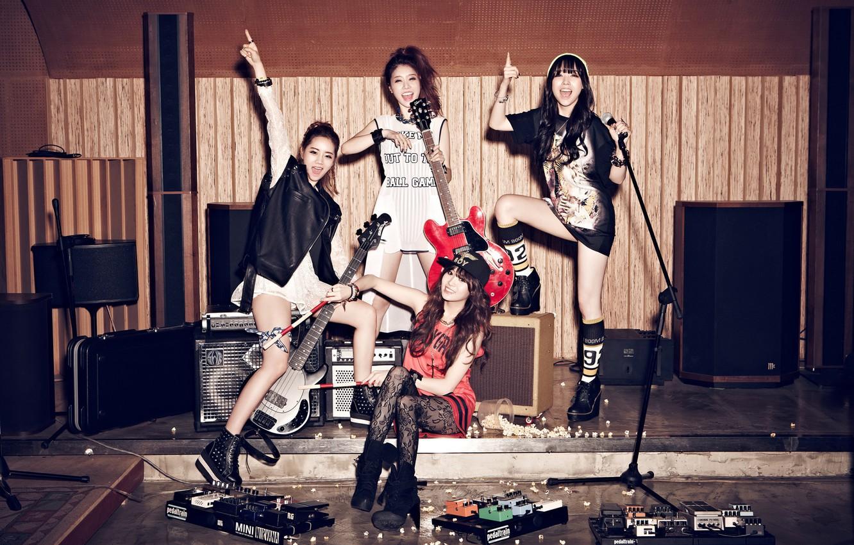 Photo wallpaper music, girls, guitar, Asian girls, Studio, South Korea, singer, Girls Day, K-pop