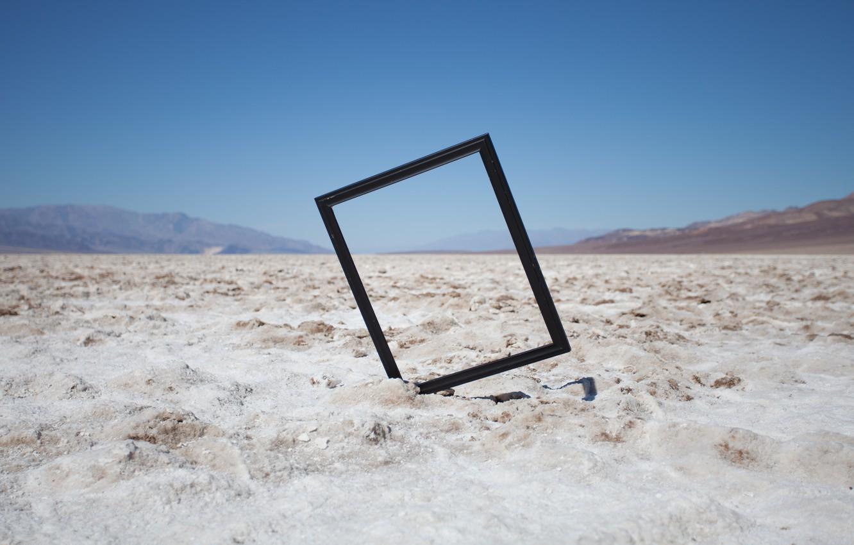 Photo wallpaper sand, hills, frame, valley