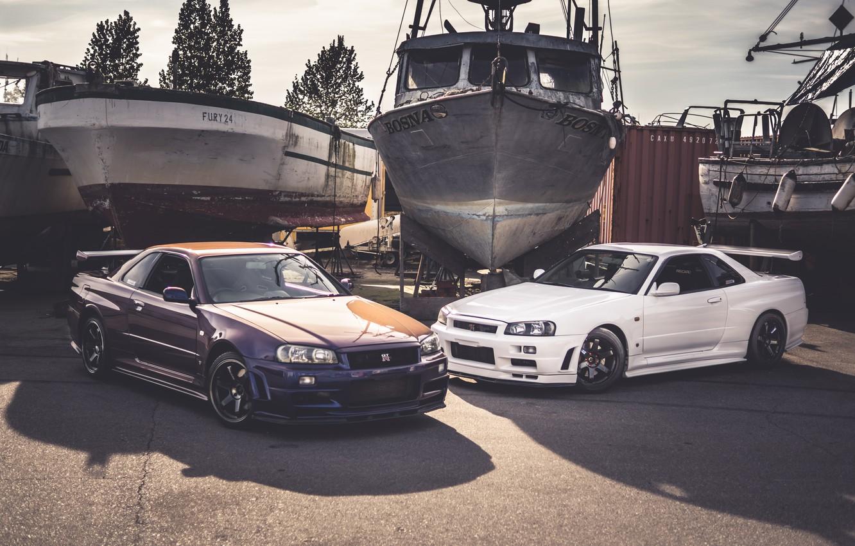 Photo wallpaper Nissan, Skyline, Ships, 2, GT-R32, &