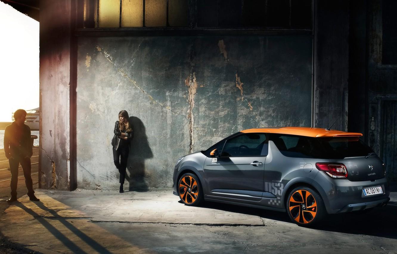 Photo wallpaper auto, girl, Parking, Citroen, cool CDs