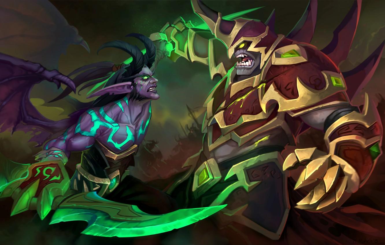 Photo wallpaper the demon, WoW, World of Warcraft, Legion, demon hunter, Demon Hunter