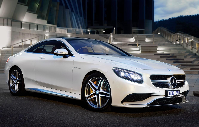 Photo wallpaper Mercedes-Benz, Mercedes, AMG, Coupe, AMG, S 63, AU-spec, 2015, C217
