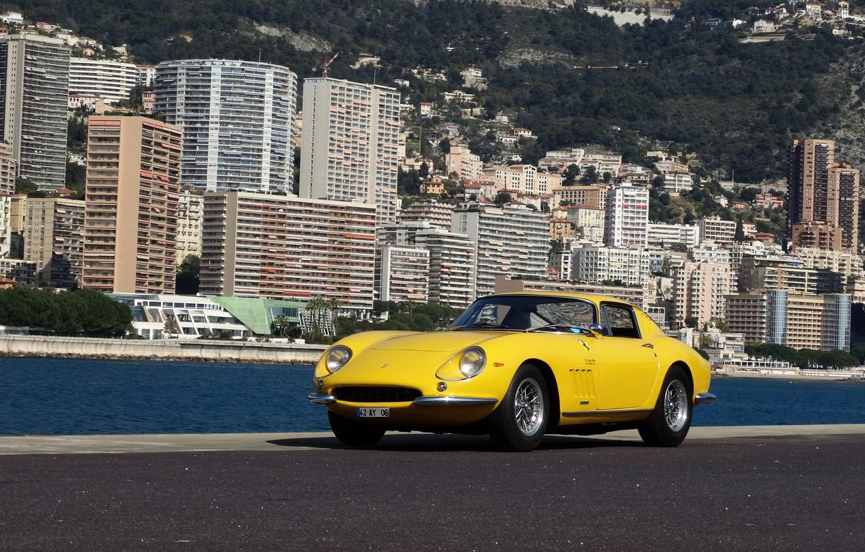 Photo wallpaper Ferrari, GTB, Yellow, 275