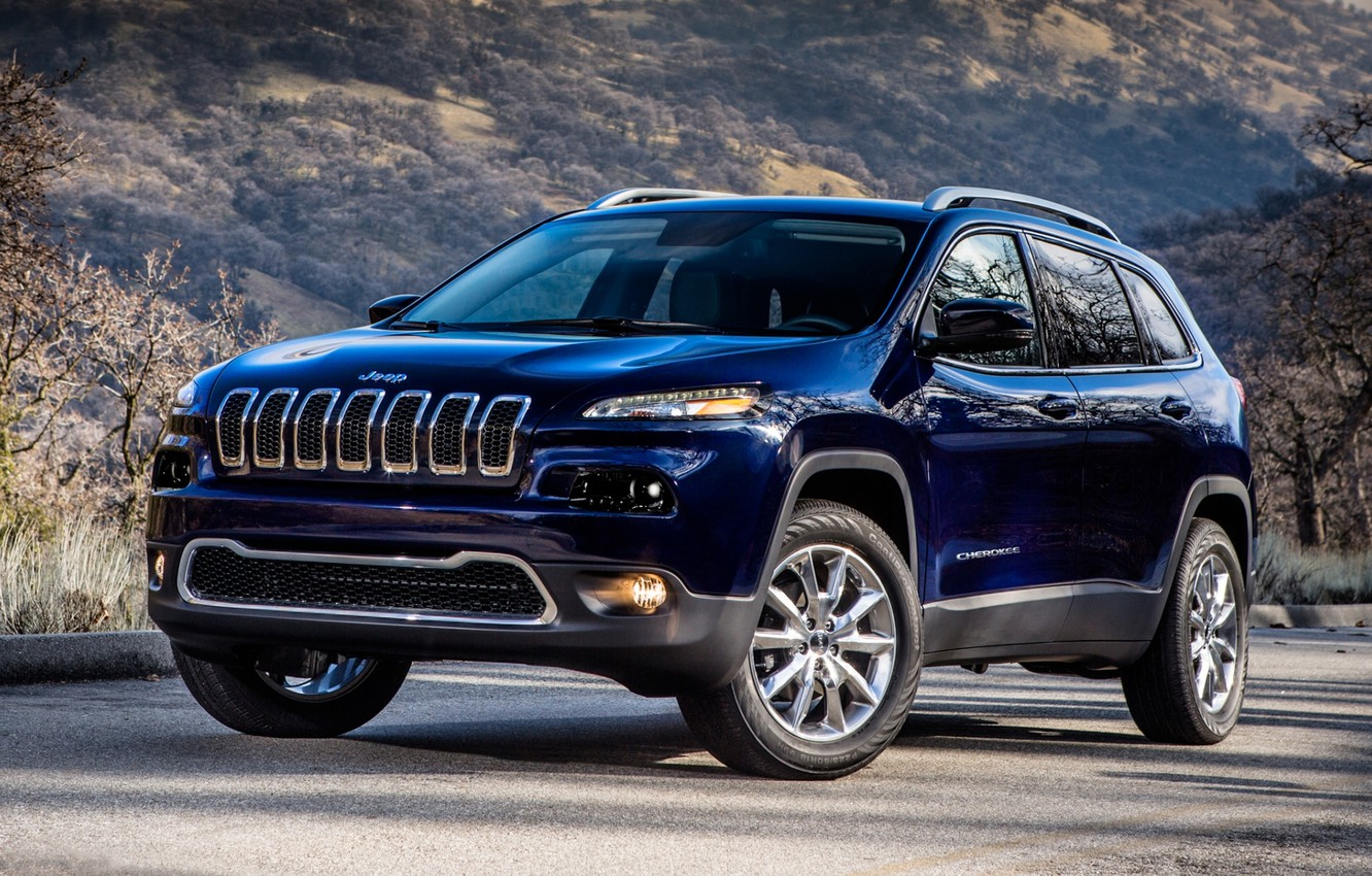 Photo wallpaper hill, Jeep, the front, Jeep, Cherokee, Limited, Cheroke