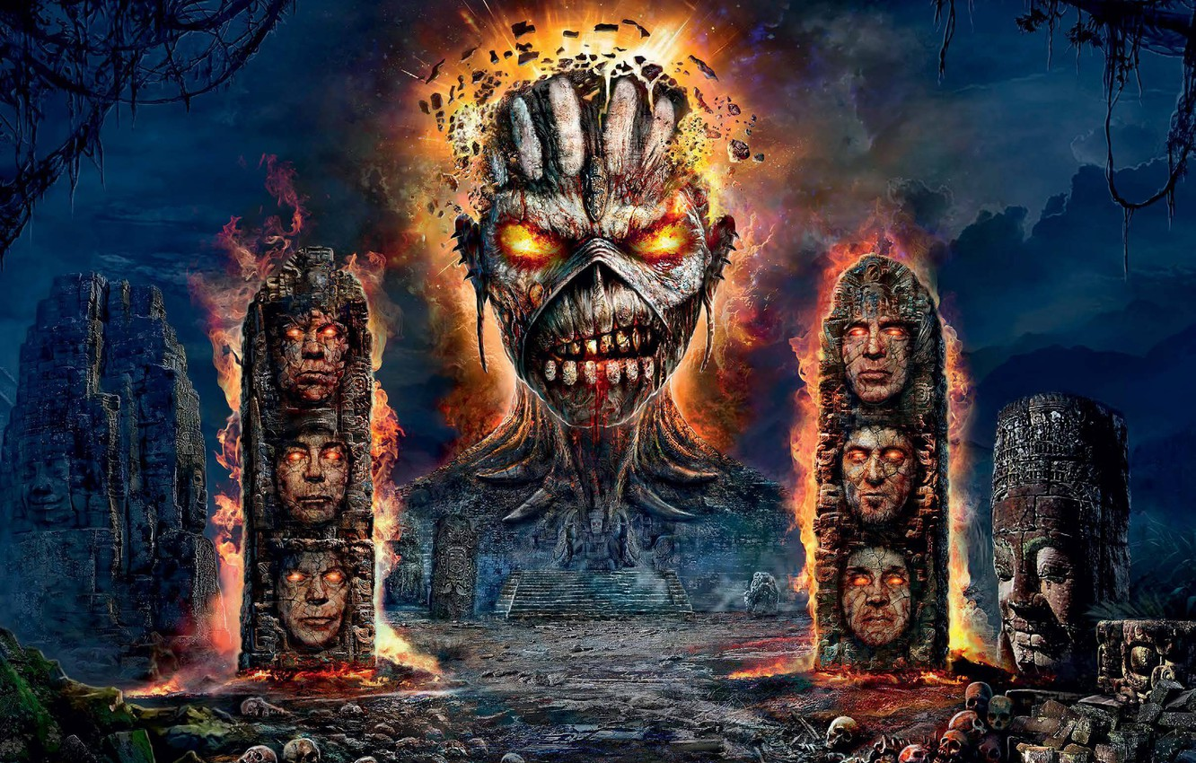 Wallpaper Monster Ruins Heavy Metal Iron Maiden Images For