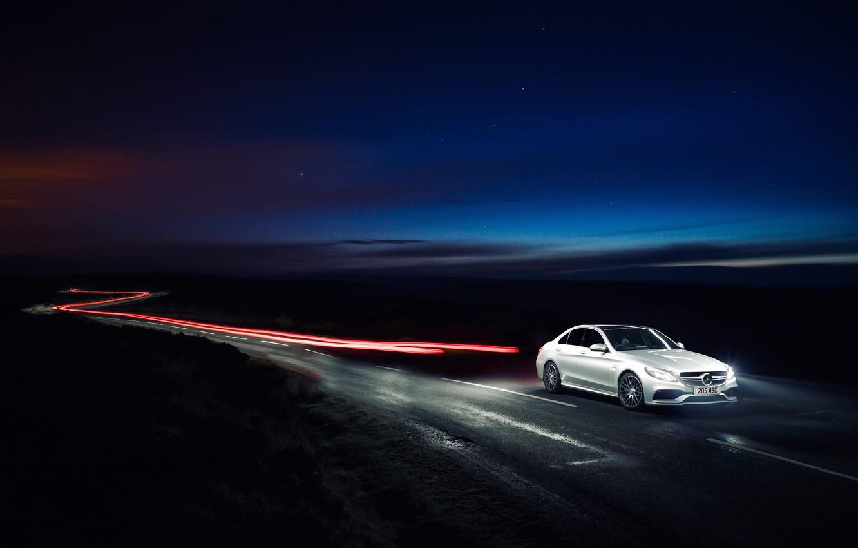 Photo wallpaper Mercedes, Mercedes, AMG, AMG, UK-spec, 2015, W205, C 63 S