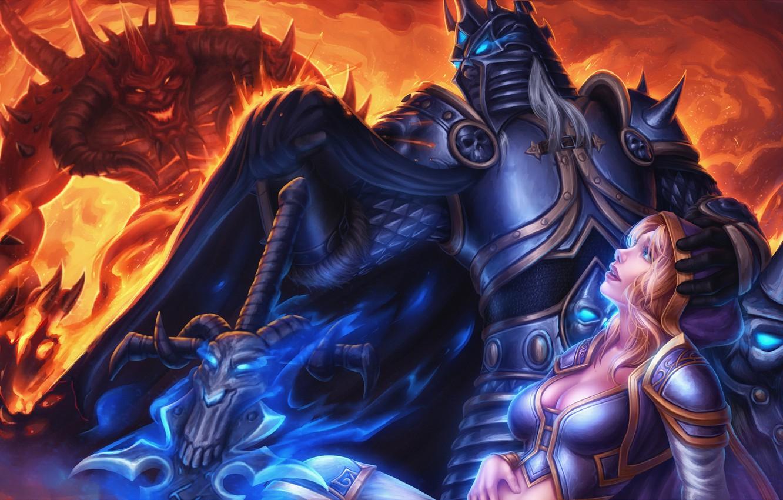 Wallpaper Diablo Warcraft Arthas Heroes Of The Storm Moba