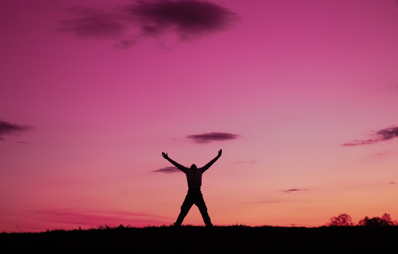 Photo wallpaper freedom, emotions, dawn, people