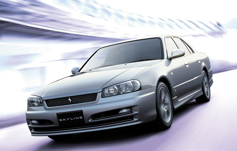 Photo wallpaper Japan, Nissan, Wallpaper, Sedan, Drift, Japan, Nissan, Drift, Car, Auto, Skyline, Wallpapers, R34, Sedan, Skyline, …
