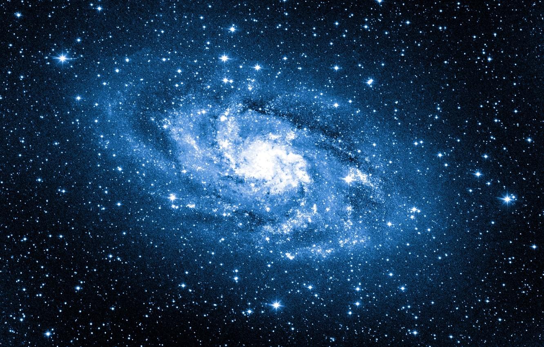 Photo wallpaper blue, stars, galaxy