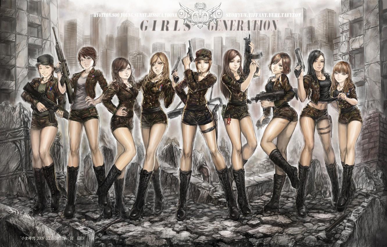 Photo wallpaper girls, anime, Asian girls, Girls Generation