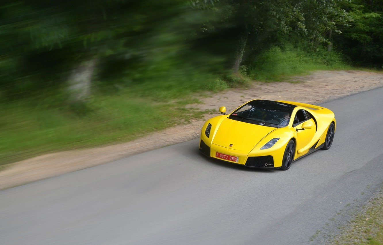 Photo wallpaper speed, supercar, yellow, Spania, GTA Spano