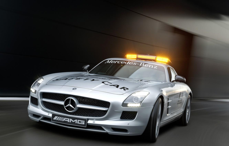 Photo wallpaper 2010 F1 Safety Car, AMG, Mercedes SLS