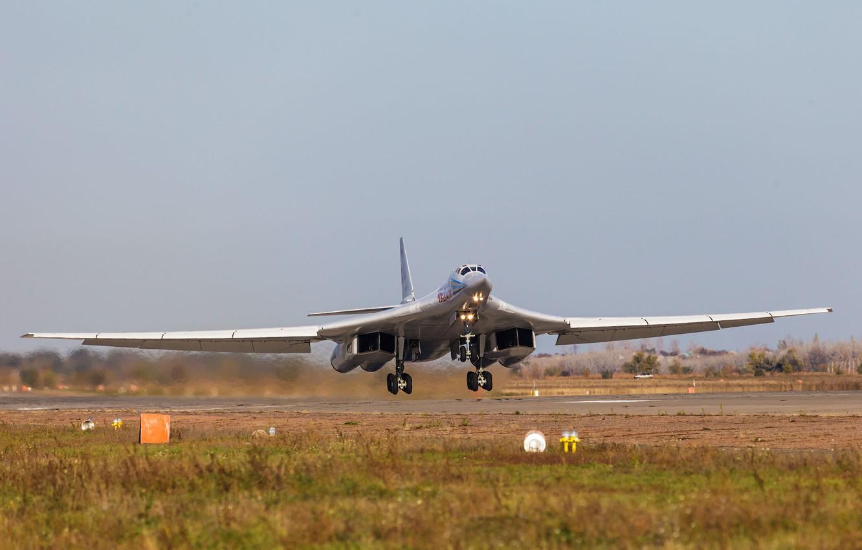 Photo wallpaper bomber, strategic, The Tu-160, Engels, Airbase