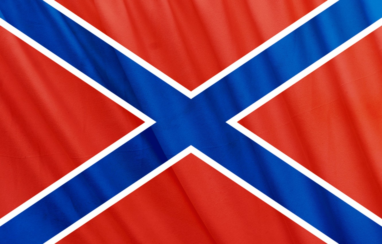 Photo wallpaper Flag, Confederation, Novorossiya, independence, the Union of people's republics, St. Andrew's cross, will and work