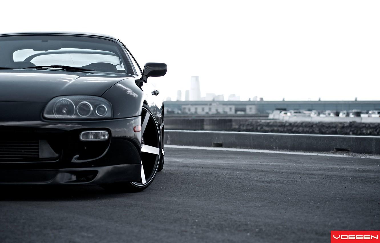 Photo wallpaper tuning, Toyota, drives, Supra, wheel, vossen, Supra