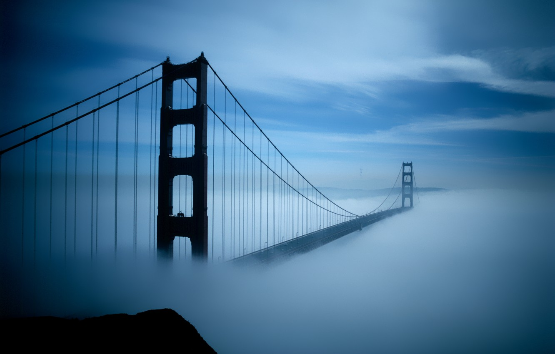Photo wallpaper bridge, infinity, utopia