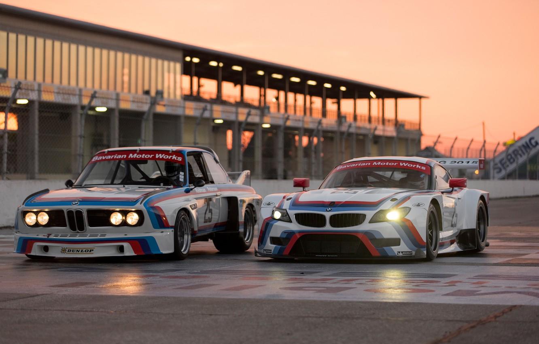 Photo wallpaper race car, BMW Z4 GTLM, BMW 3.0 CSL