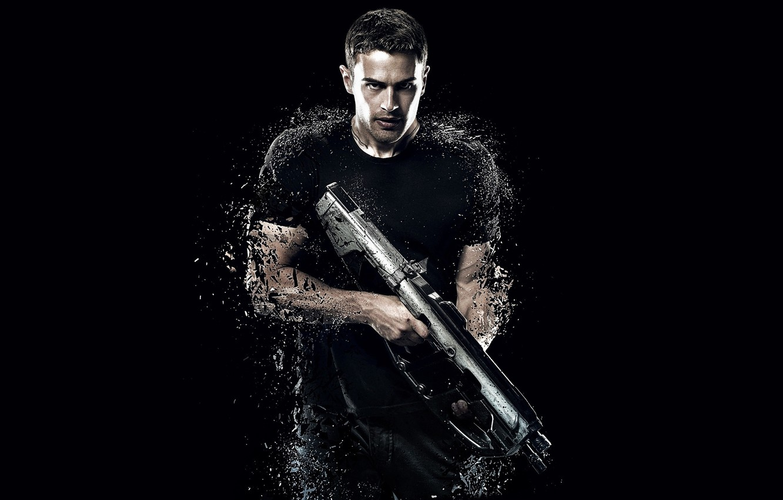 Photo wallpaper cinema, gun, soldier, actor, weapon, movie, shotgun, film, pose, warrior, strong, muscular, Four, 2015, Theo …