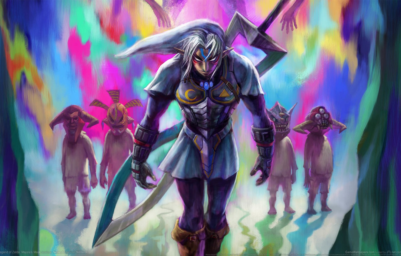 Photo wallpaper night, weapons, fiction, elf, heroes, game wallpapers, Legend of Zelda: Majora's Mask