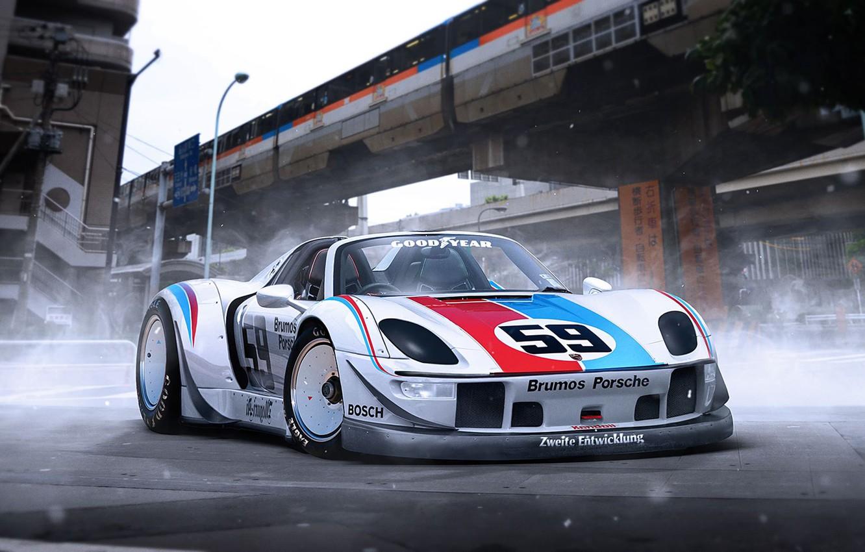 Photo wallpaper Porsche, 918, Tuning, Supercar, RWB, Rough, World, Term, by Khyzyl Saleem