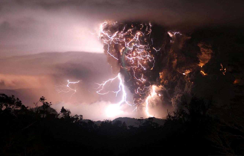 Photo wallpaper lightning, The storm, vortex