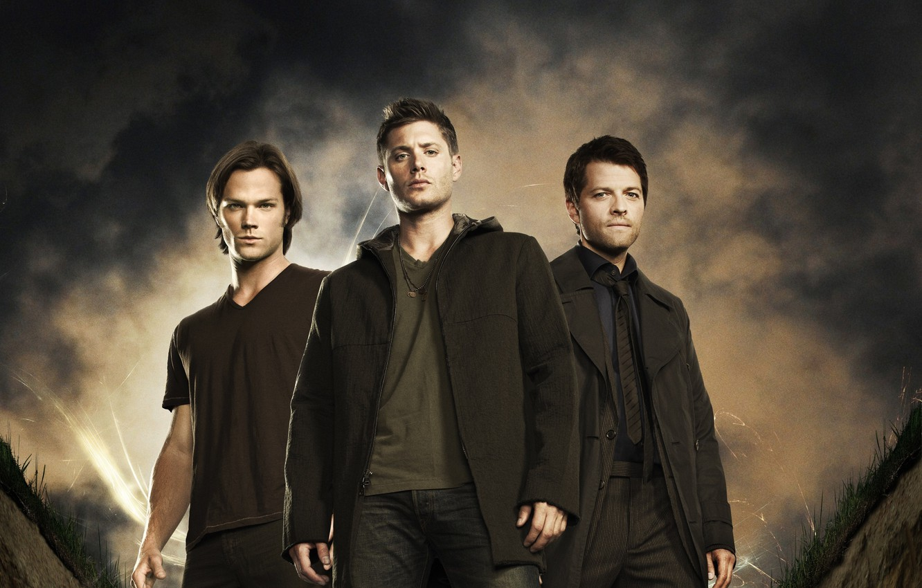 Photo wallpaper actor, Supernatural, Jensen Ackles, Supernatural, Sam, Dean, Jensen Ackles, Castiel, Misha Collins, Misha Collins, over …
