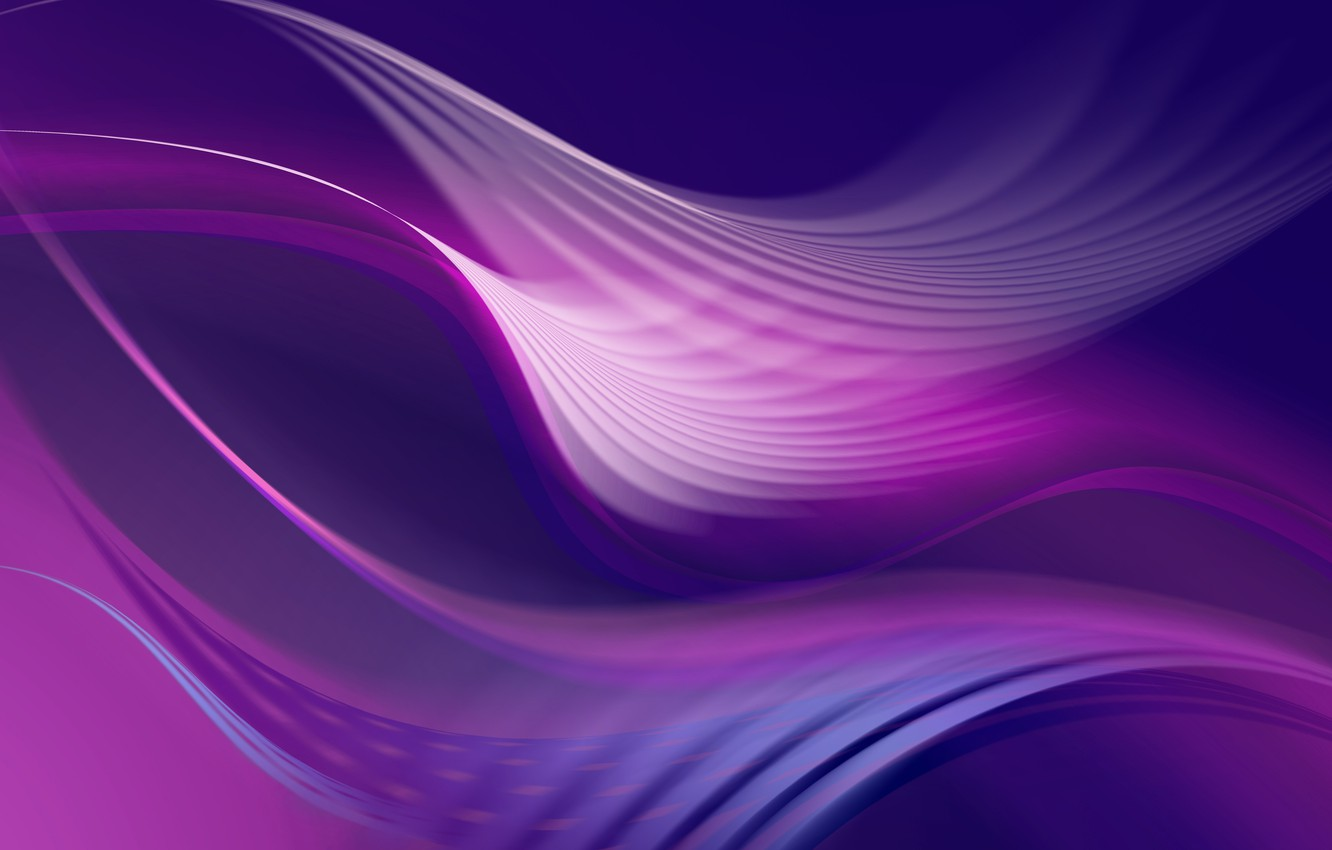 Photo wallpaper Stream, Wave, Energy, Abstract purple