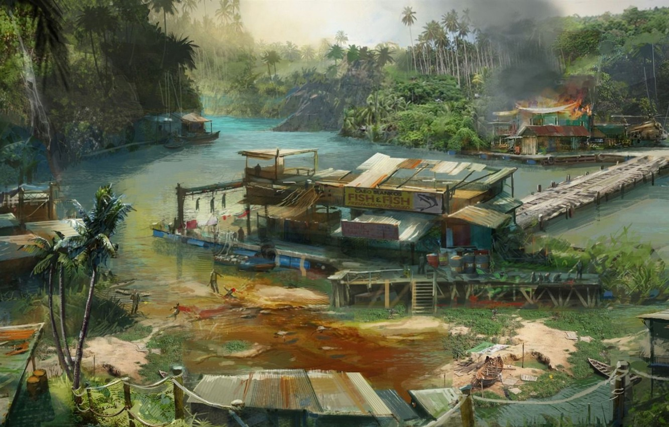 Wallpaper Island Art Far Cry 3 Edge Lights Images For Desktop Section Igry Download