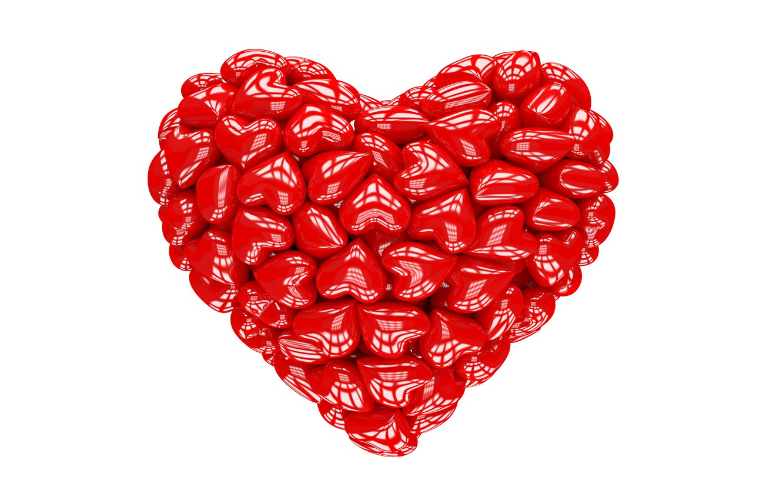 Photo wallpaper heart, red, love, heart