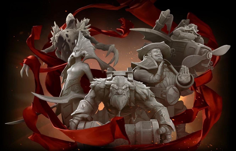 Photo wallpaper red, storm, Red, Dota 2, Dota2, camera, Naked, Dota, Naga, The International, shaker, Storm spirit, …