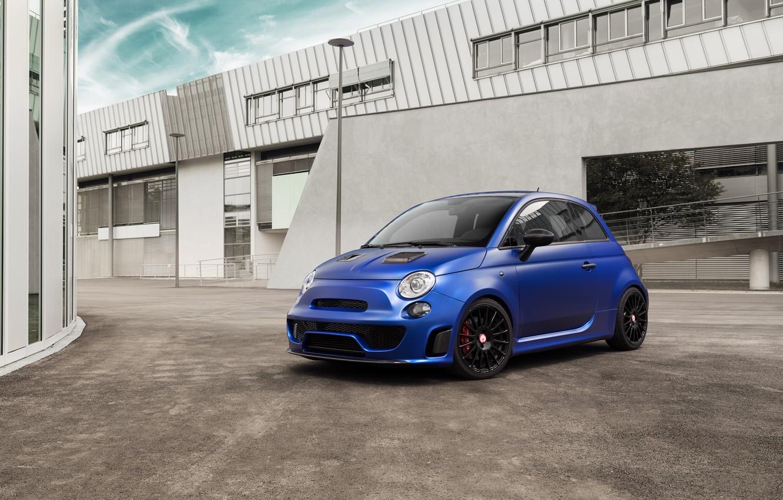 Photo wallpaper 500, Fiat, Fiat, Abarth, 2015, Pogea Racing, Blue Wonder