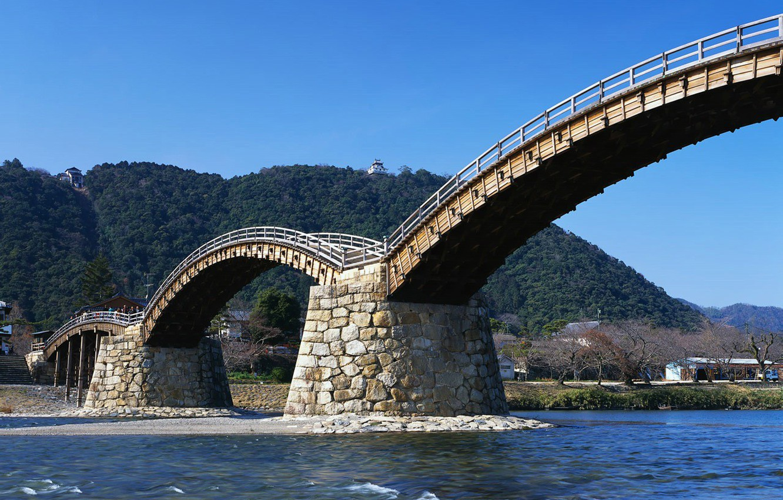 Photo wallpaper Bridge, River, Japan