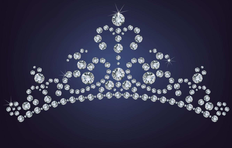 Photo wallpaper background, crown, rhinestones, pebbles
