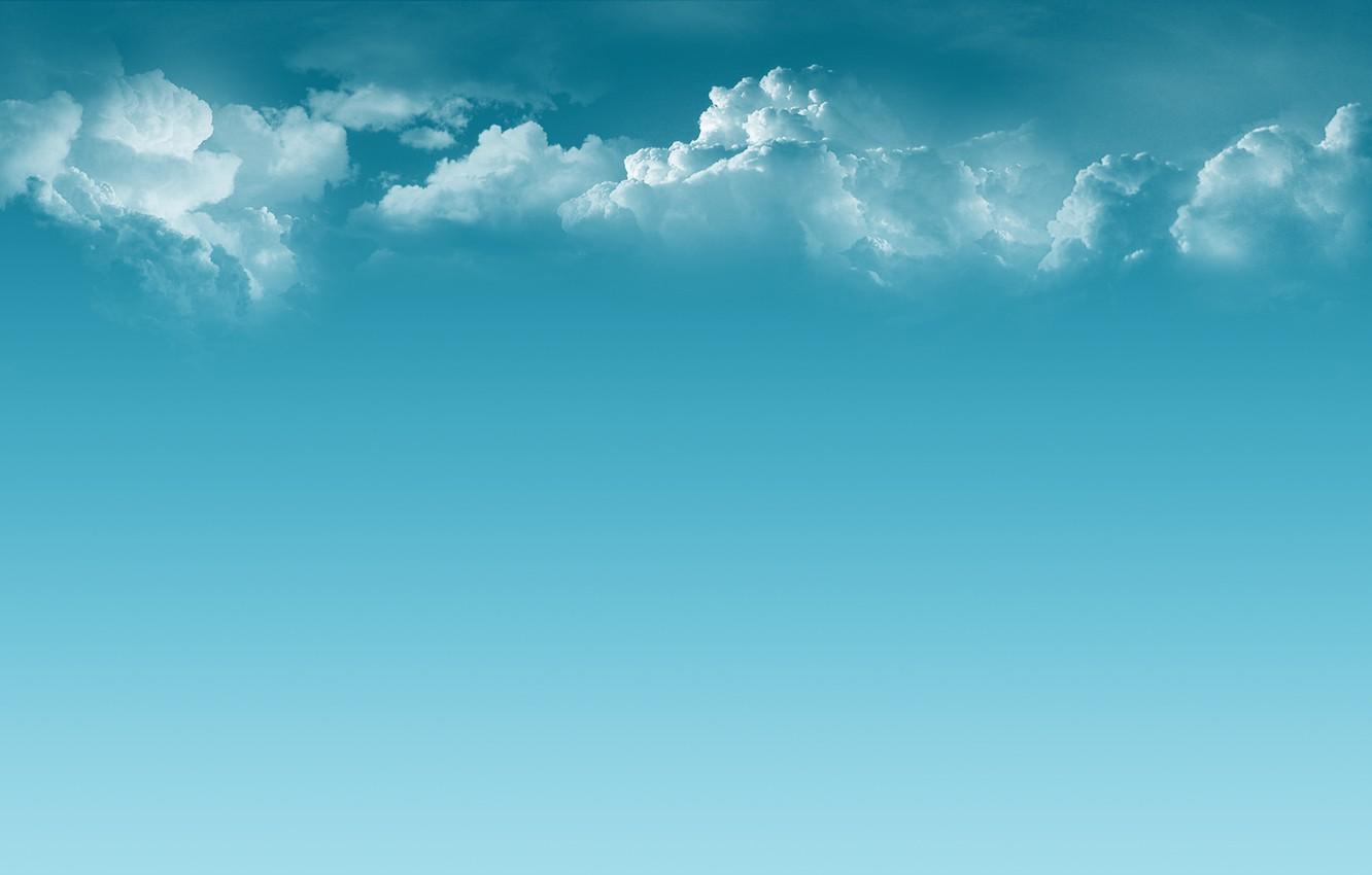 Photo wallpaper clouds, calm, Minimalism, blue, peace