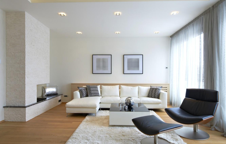 Photo wallpaper room, sofa, interior, chair