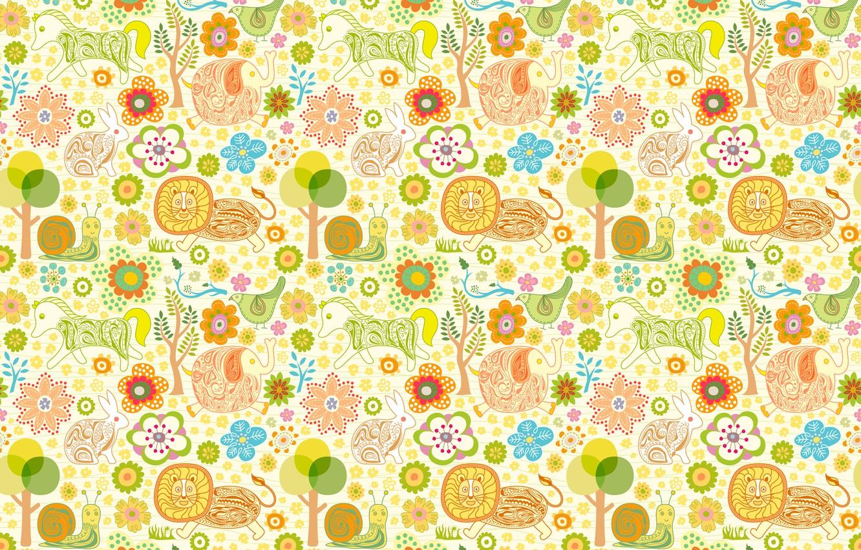 Photo wallpaper animals, birds, horse, children, elephant, hare, snail, Leo