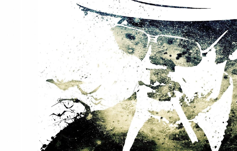 Photo wallpaper hat, glasses, cigarette, male